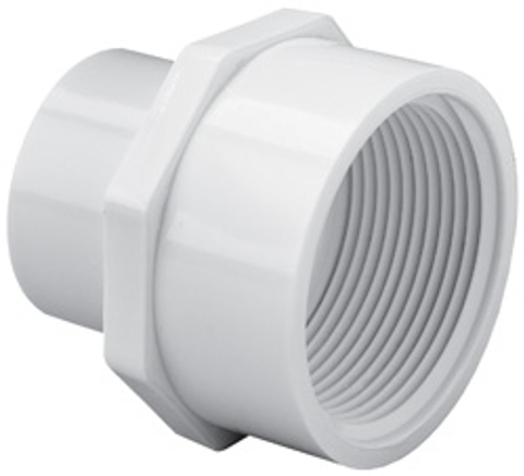 ½ x ¾ Slip x FPT Sch40 Reducing Female Adapter