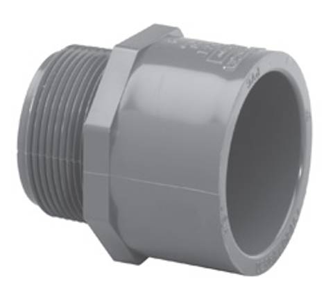 ¾ x 1 MPT x Slip Sch80 Reducing Male Adapter