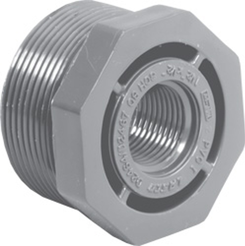 ¾ x ½ MPT x FPT SCH80C Reducer Bushing (Flush Style)