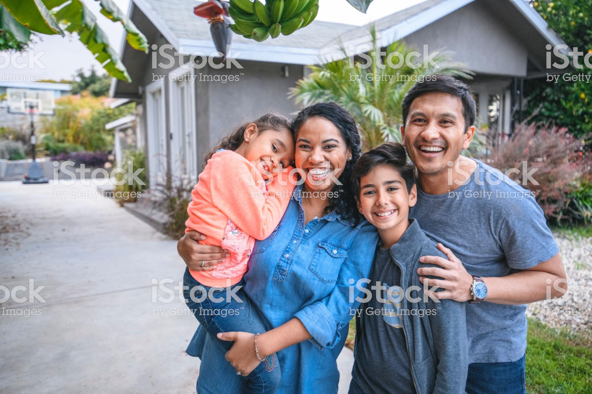 family smiling