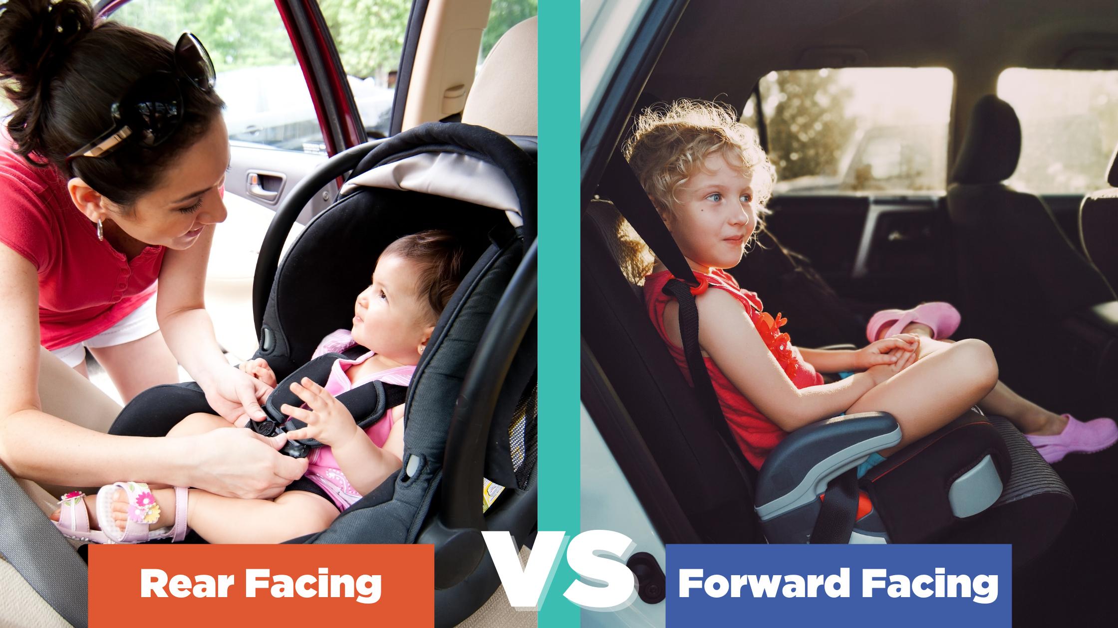 rear facing vs front facing car seat