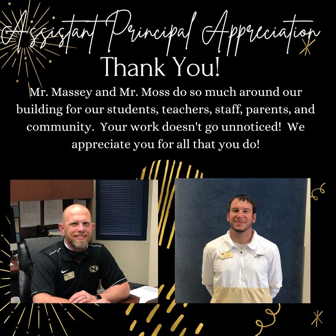 Graphic showcasing Mr. Massey and Mr. Moss and thanking them