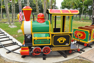 """Train ride front """"engine"""" car."""