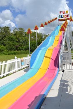 Dry amusement slide.