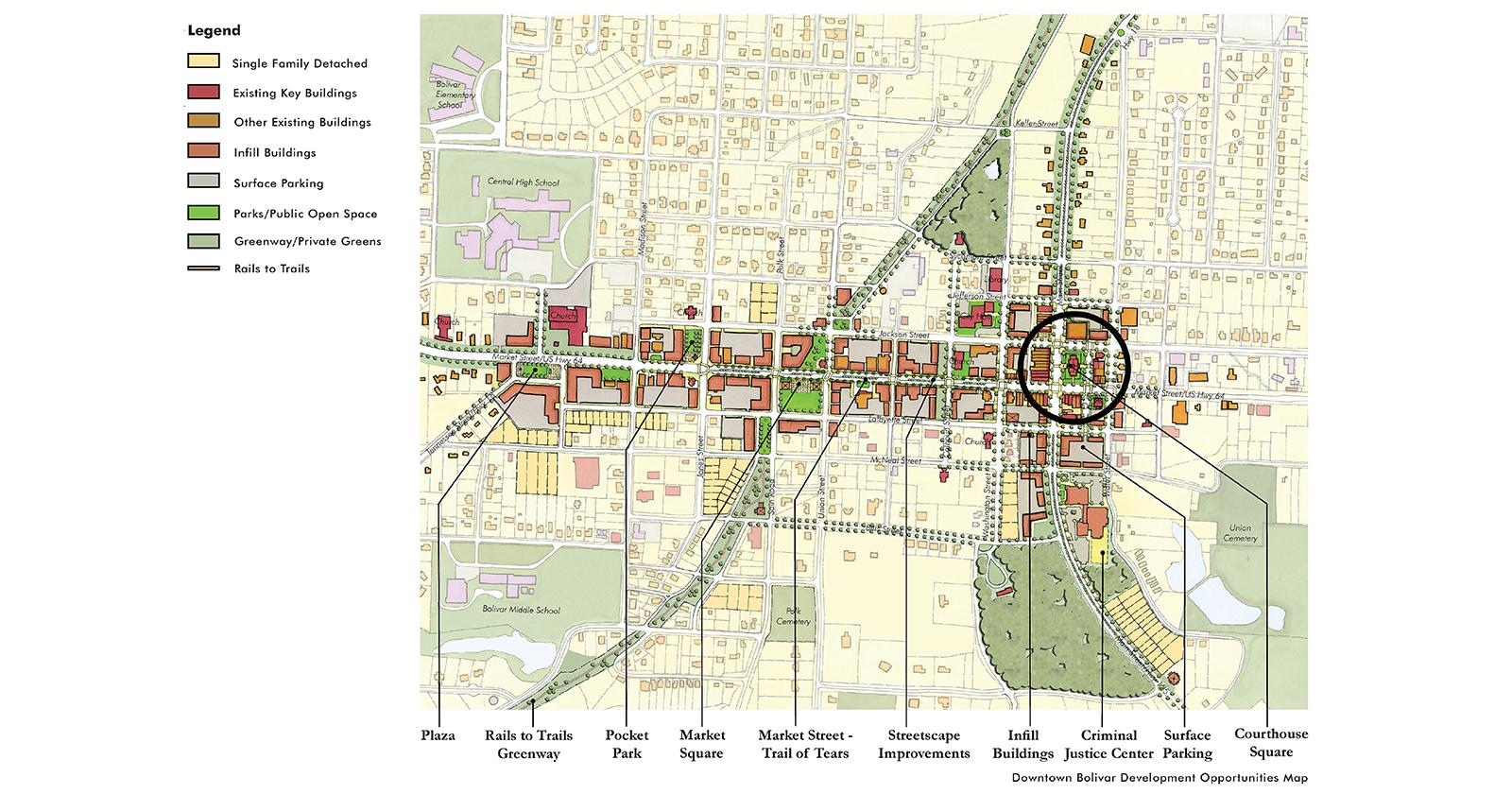 Downtown Bolivar Master Plan, Bolivar, TN