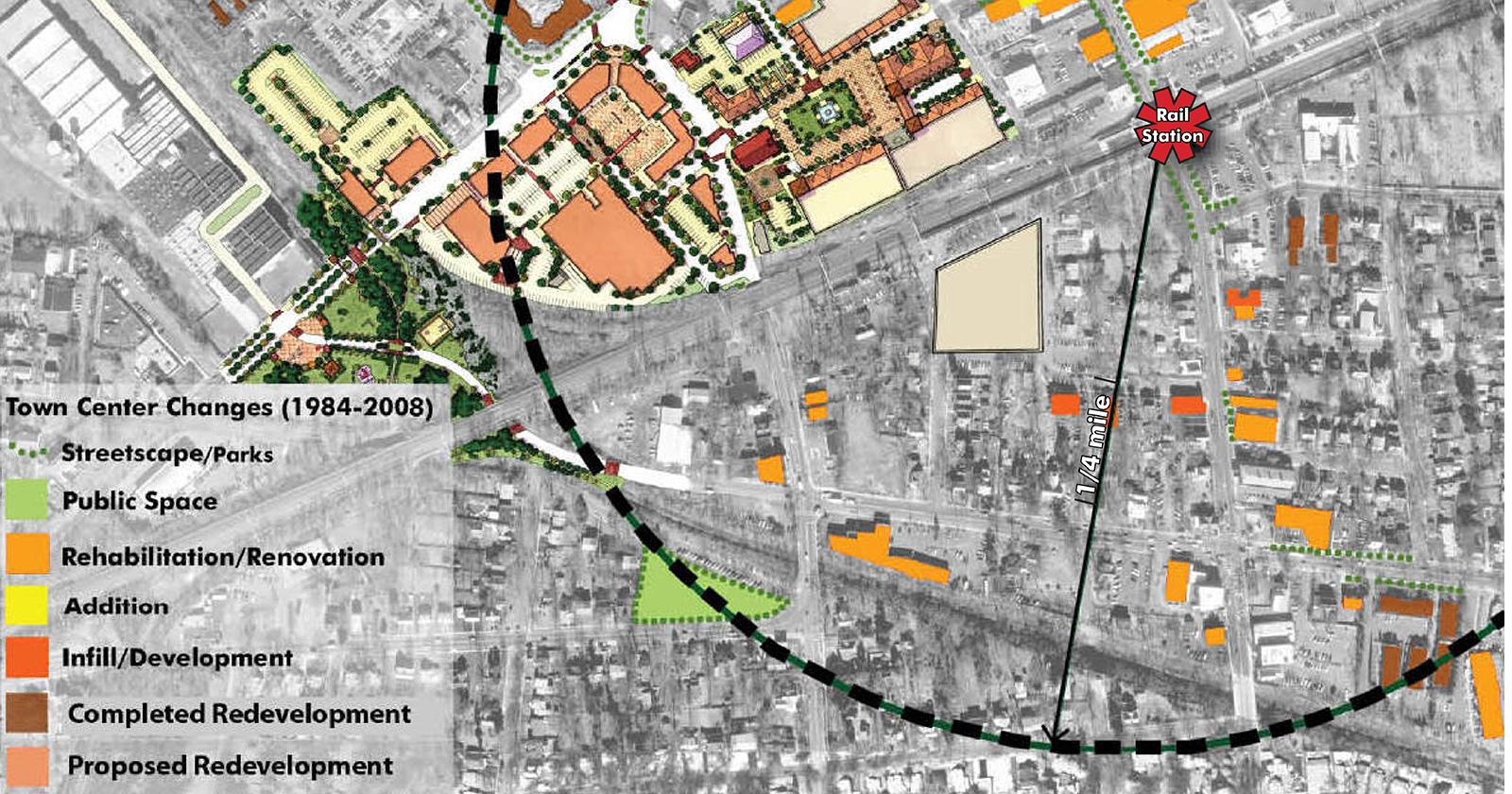 Metuchen Town Center and Transit Village, Metuchen, NJ