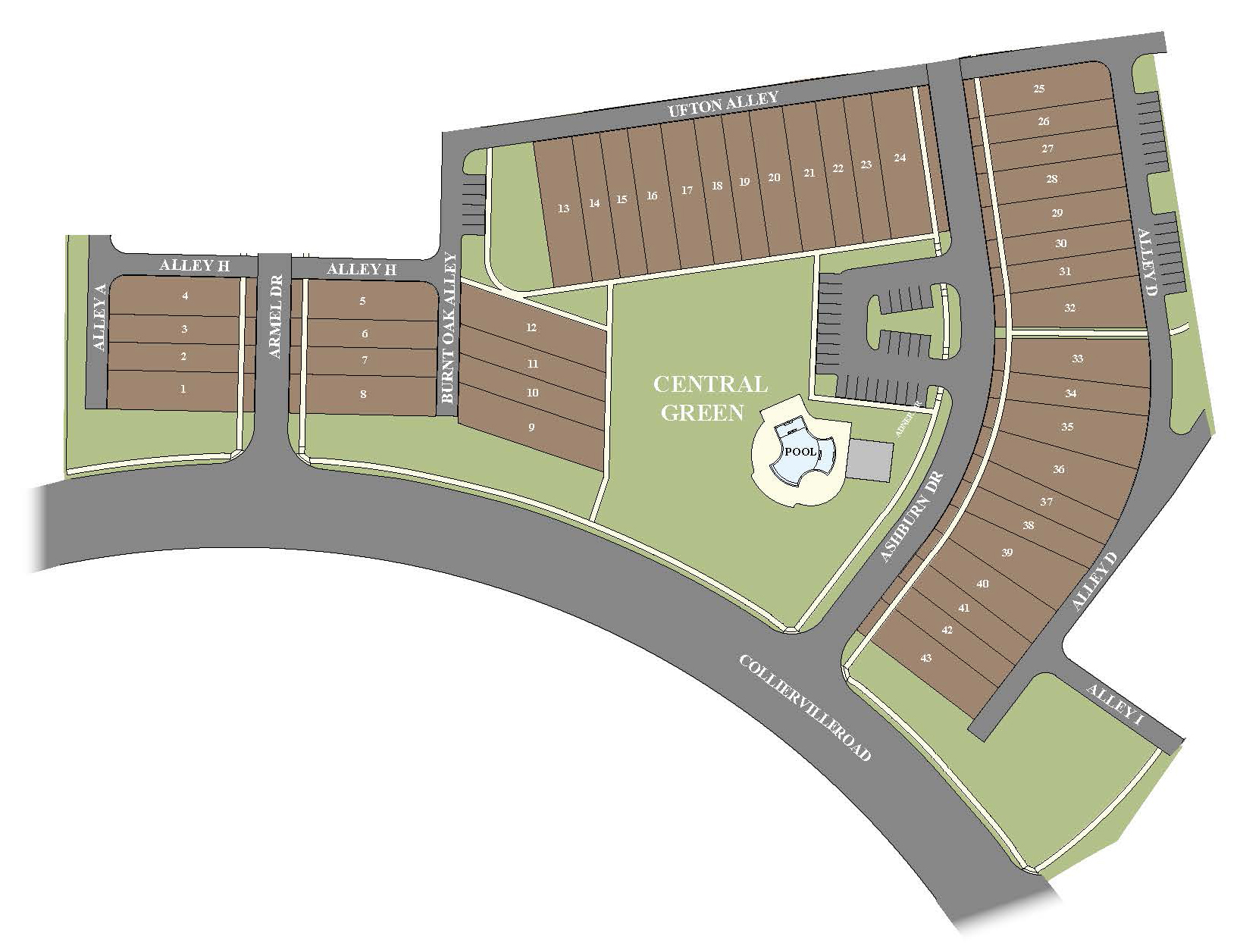 The Towne Collierville Home Sites