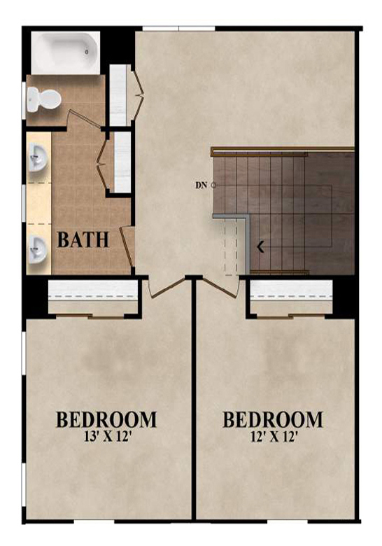The Belmont - Plan B Second Floor