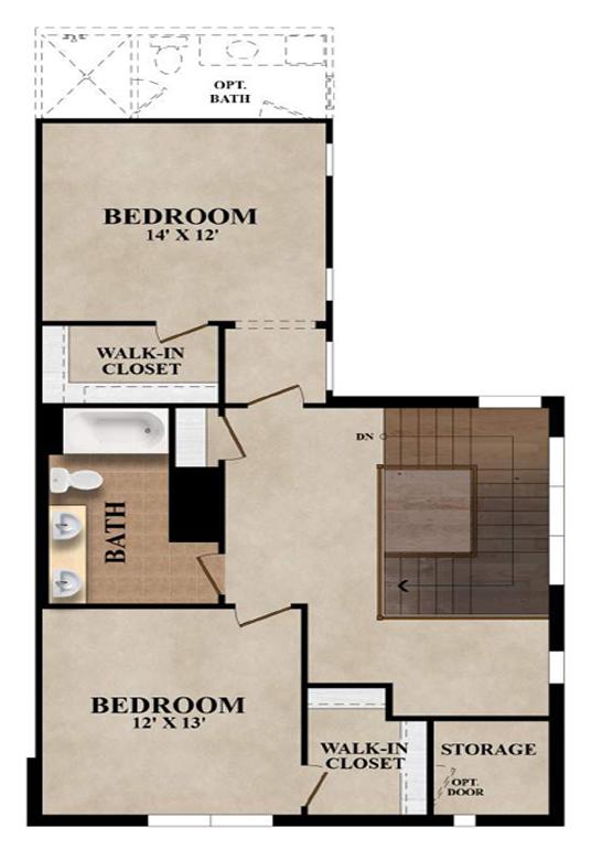 The Carrington - Plan C Second Floor