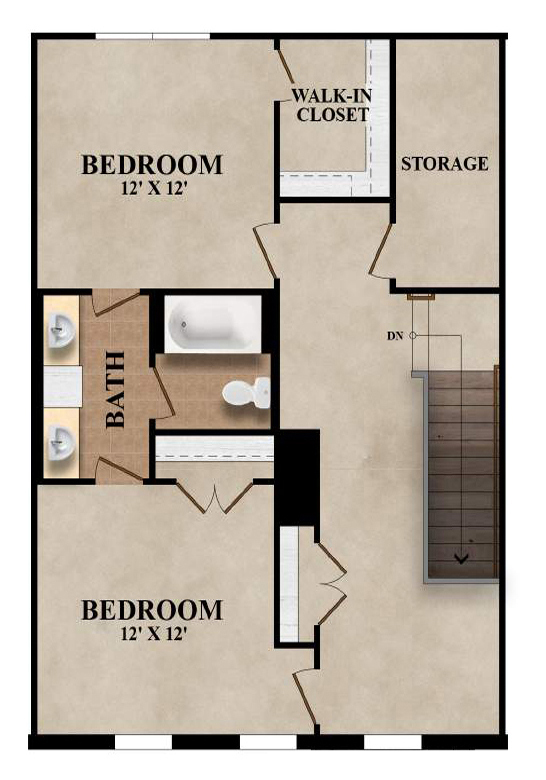 The Ashford - Plan A Second Floor