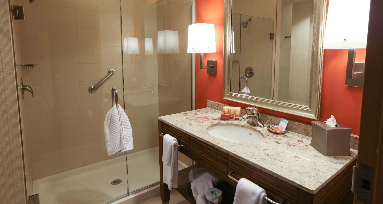 Apache Casino Hotel Shower Bathroom